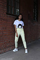 Штани жіночі карго колір жовтий бренд ТУР модель Cassie (Кессі), фото 1