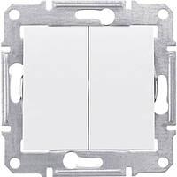 Механизм выключателя 2-клавишного белый SDN0300121 Schneider Electric Sedna