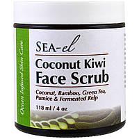 Скраб для лица с кокосом и киви, Sea el, 118 мл (4 унц.)