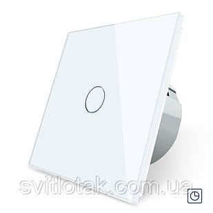 Сенсорный выключатель таймер Выключатель с реле времени Livolo белый стекло (VL-C701T-11)