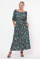 Платье в пол Снежанна Изумрудное поле Размеры   52, 54, 56, 58, фото 2