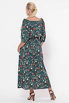 Платье в пол Снежанна Изумрудное поле Размеры   52, 54, 56, 58, фото 3