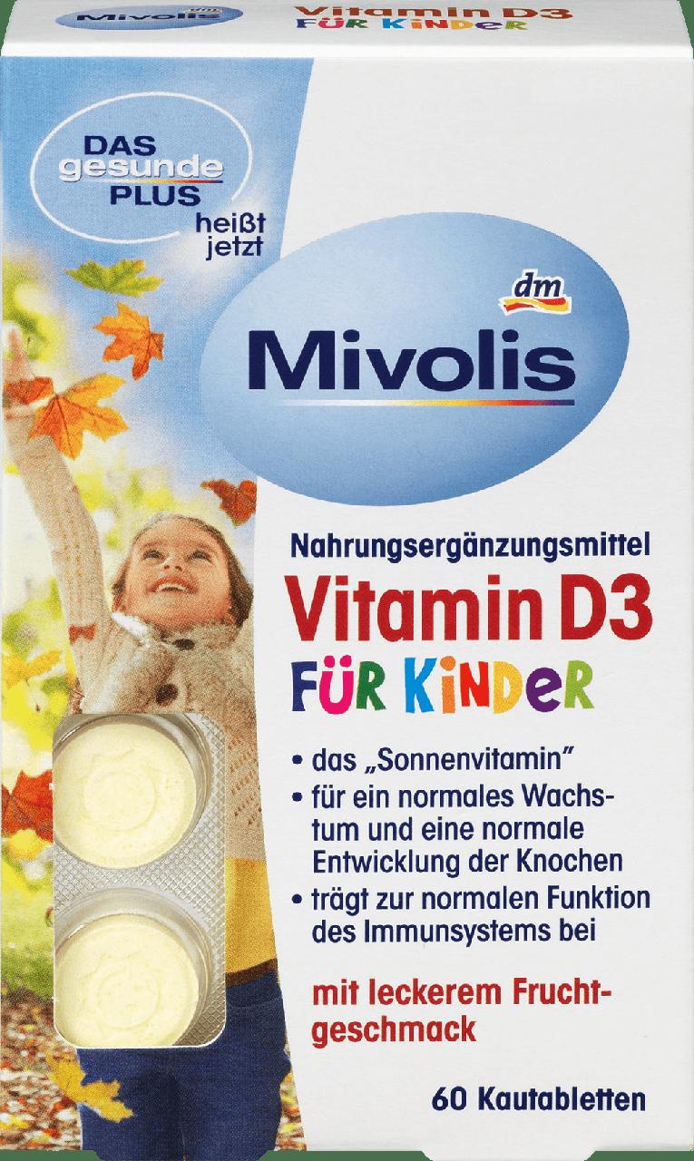 Жевательные витамины для детей Mivolis Vitamin D3, 60 шт.