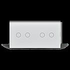 Сенсорный проходной выключатель Livolo 4 канала (2-2) белый стекло (VL-C702S/C702S-11), фото 2