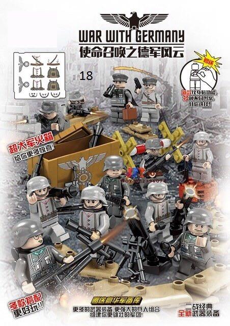 Фигурки немецких военных сс вермахт спецназ военные солдаты лего lego