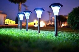 Садовый газонный Led светильник на солнечной батарее Lemanso CAB119 (белый свет, пластик)