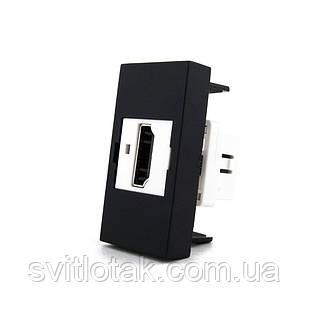 Механизм розетка Livolo HDMI черный (VL-C7-1HD-12)