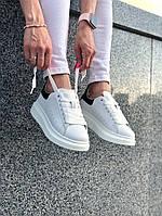 Женские кроссовки Alexander McQueen\ Александер Маквин Белые \ Жіночі кросівки Александер Маквін Білі