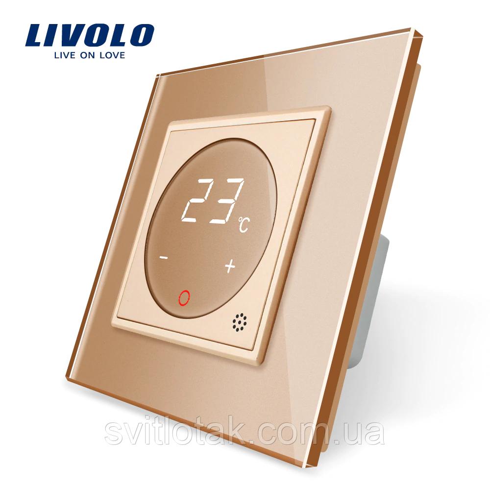 Терморегулятор сенсорный Livolo для водяных систем отопления цвет золото (VL-C701TM-13)