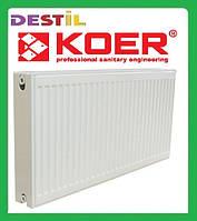 Стальной Панельный Радиатор Koer 500x500 Нижнее Подключение Термоклапан