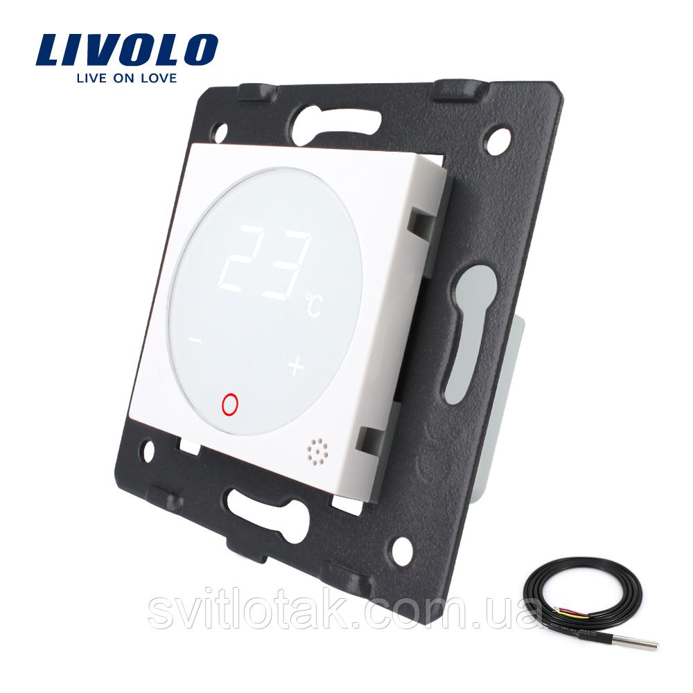 Механизм терморегулятор Livolo с датчиком температуры пола белый (VL-C7-01TM2-11)