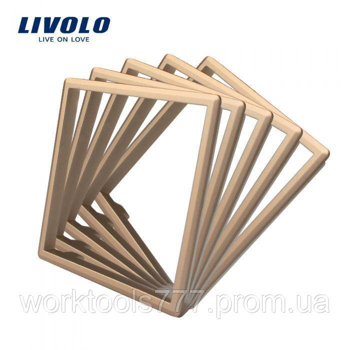 Ободок розетки Livolo 5 шт золото (DF10-13)