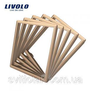 Обідок розетки Livolo набір 5 шт колір золото (DF10-13)
