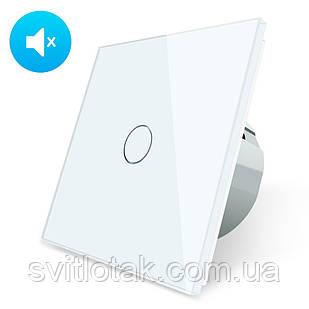 Бесшумный сенсорный выключатель Livolo Silent цвет белый стекло (VL-C701Q-11)
