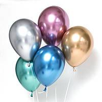 Латексные шары 12' хром Tofo Китай ассорти, (30 см) 10 шт