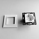 Розетка с заземлением Livolo 16А белый стекло (VL-C7C1EU-11), фото 3