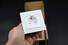 Розетка с заземлением Livolo 16А белый стекло (VL-C7C1EU-11), фото 7