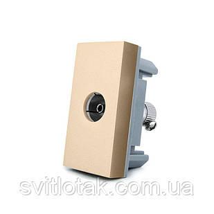 Механизм розетка телевизионная Livolo TV золото (VL-C7-1V-13)