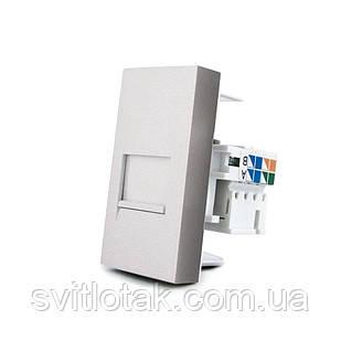 Механизм розетка интернет RJ-45 Cat 6 Livolo серый (VL-C7-1C-15)
