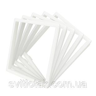 Обідок розетки Livolo набір 5 шт колір білий (DF10-11)