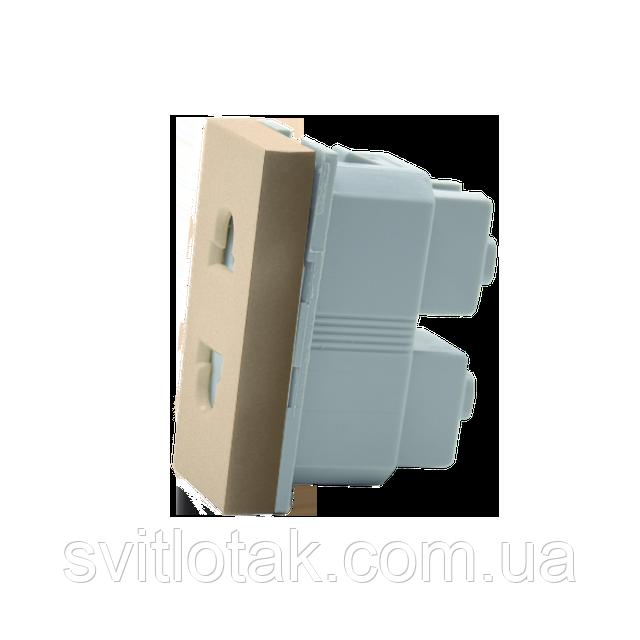 Механизм универсальная розетка Livolo US EU золото (VL-C7-C1A-13)
