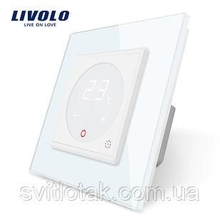 Терморегулятор сенсорний Livolo для водяних систем опалення колір білий (VL-C701TM-11)