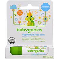 Органический бальзам для губ и лица, BabyGanics, 7 г (0,25 унции)