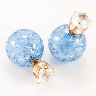 Серьги-пусеты Dior с камнем голубые