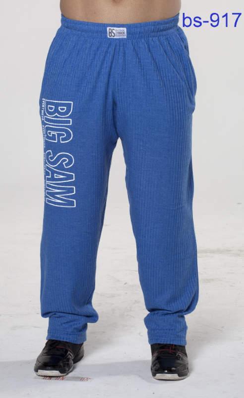 Штаны спортивные с надписью на бедре BigSam 917  размер L синие