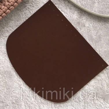 Крышка для сумки из эко-кожи (21*18), цвет рыжий