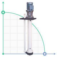 Вертикальный центробежный химический насос  IM 90 PVDF