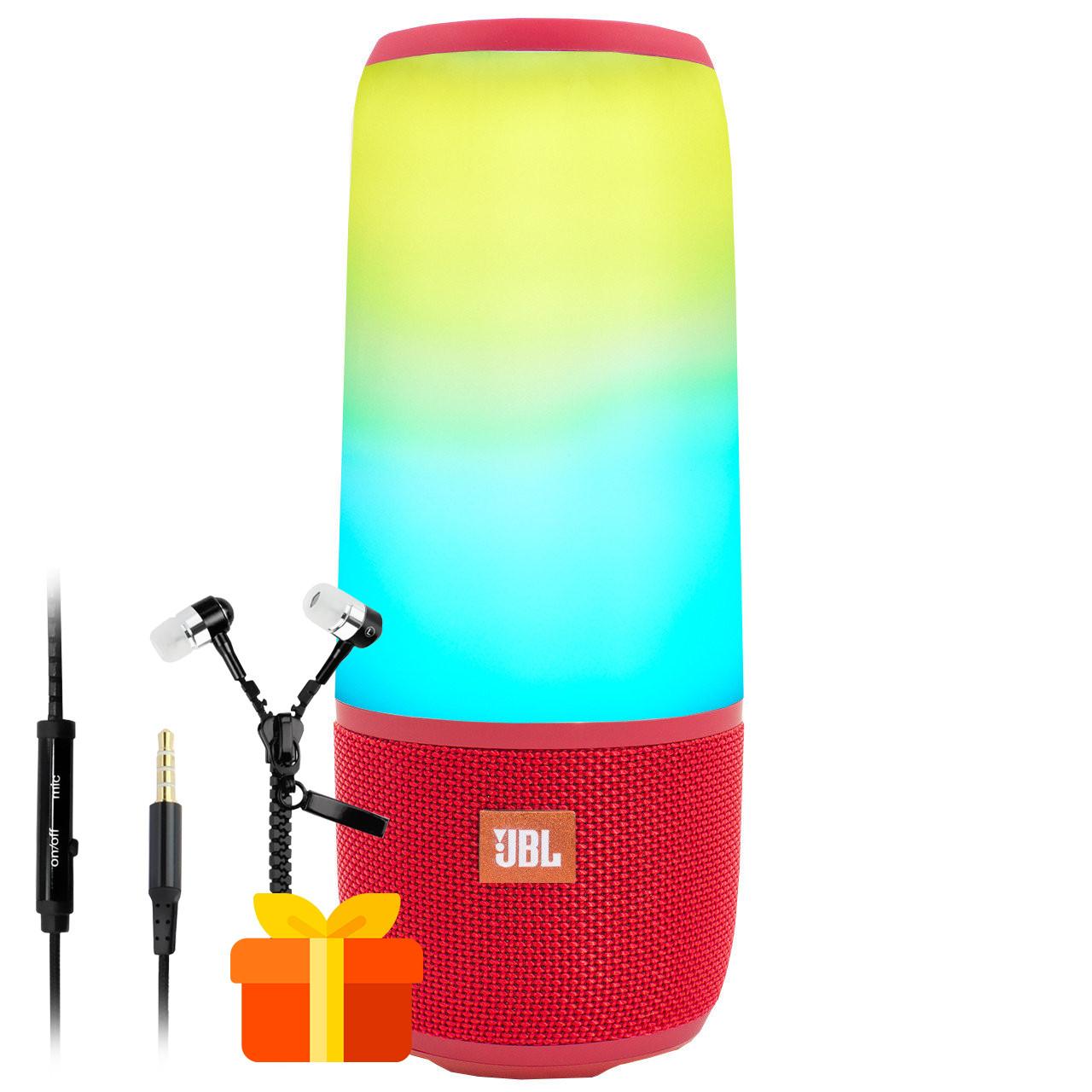 ★Колонка BL JBL Pulse Р3 Red с подсветкой Bluetooth громкая связь стерео звук беспроводная