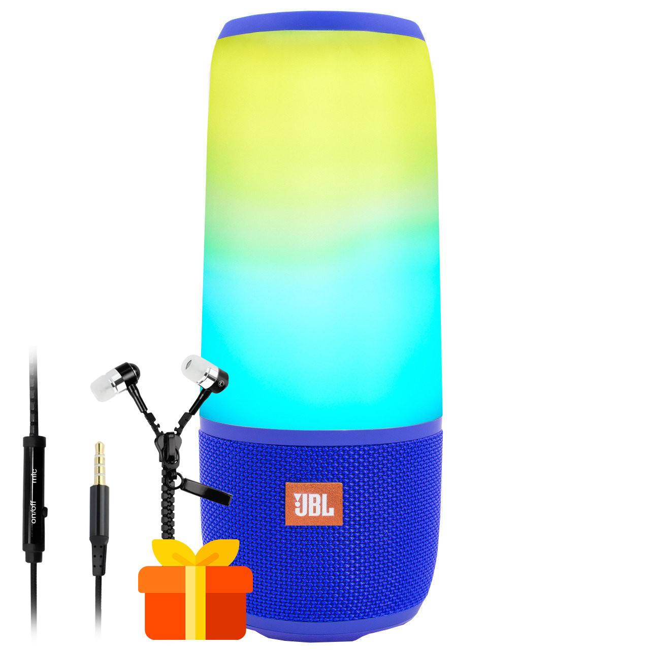★Беспроводная колонка BL JBL Pulse Р3 Blue портативная светоэффекты AUX USB micro SD micro USB Стерео