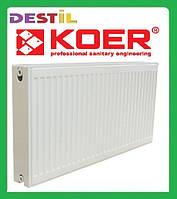 Стальной Панельный Радиатор Koer 500x1400 Нижнее Подключение Термоклапан