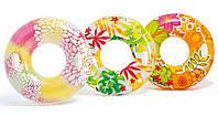 Надувной круг для плавания Intex 58263 с ручками 97 см в ярких сочных цветах
