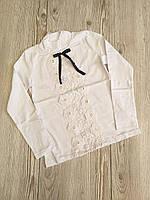 Кофта шкільна для дівчинки 6-13 років білого кольору оптом
