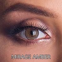 Цветные линзы ЛЮКС качество с диоптриями от -1 до -6 с шагом 0,5 Rainbow Mirage Amber Турция