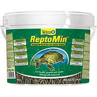 Сухой корм для водоплавающих черепах Tetra в палочках ReptoMin 10 л/2,5 кг
