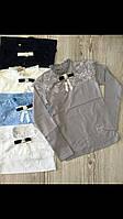 Кофта школьная для девочки 10-16 лет белого, серого, голубого, синего цвета с длинным рукавом с кружевом оптом