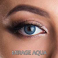 Цветные линзы ЛЮКС качество с диоптриями от -1 до -6 с шагом 0,5 Rainbow Mirage Aqua Турция