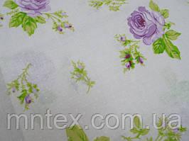 Ткань для пошива постельного белья ранфорс Пакистан  Розочки