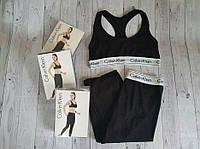 Набор спортивный Calvin Klein (топ+леггинсы), черный S