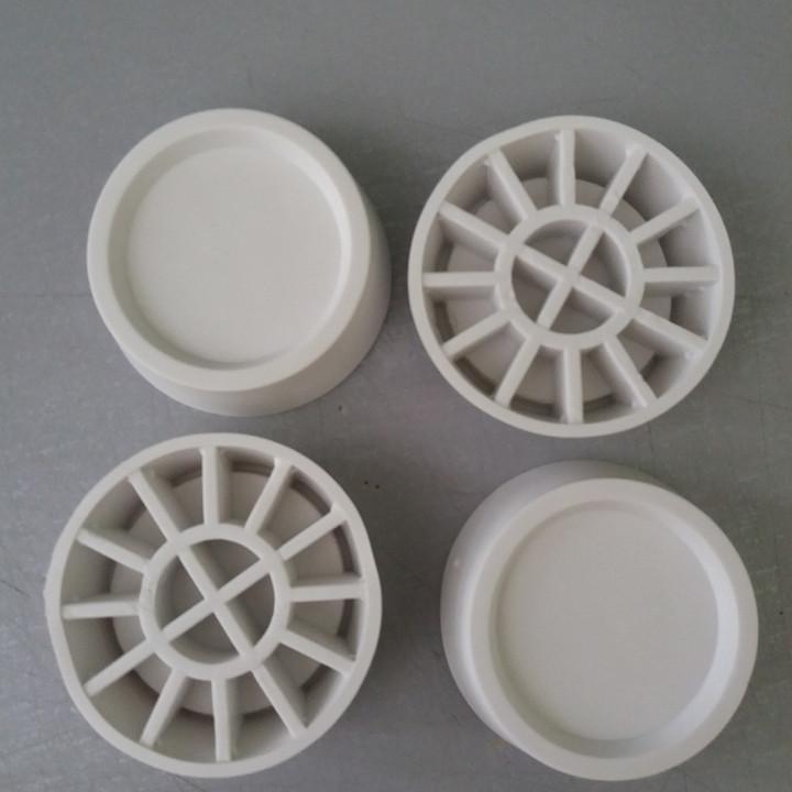 Резиновые антивибрационные подставки под ножки стиральной машины белого цвета 4 шт. универсальные Wpro