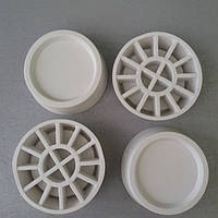 Резиновые антивибрационные подставки под ножки стиральной машины белого цвета 4 шт. универсальные Wpro, фото 1