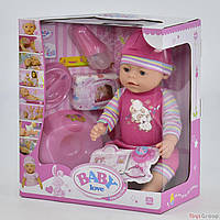 Пупс аналог Baby born функциональный BL 023 I  (12) с аксессуарами, в коробке