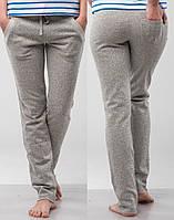 Женские брюки трикотажные серые