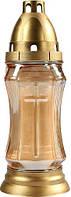 Лампадка в золотистом стекле Bispol 2 дня 23,5 см (1001)