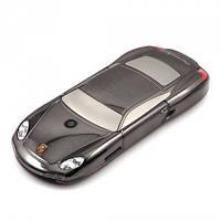 Металлический мобильный телефон в виде машины PORSHE Cayman S на кнопках 2 сим карты