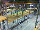 Паллетный стеллаж приставной Н4000хL2700х1100мм(пол.+2 уровня по 3000 кг на уровень), для хранения паллет, фото 6