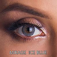 Цветные линзы ЛЮКС качество с диоптриями от -1 до - 6 с шагом 0,5 Rainbow Lovely Ice Blue Турция